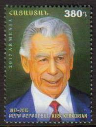 <font =1-831>831, Kirk Kerkorian, from World famous Armenians, Scott #1123 <br>Date of Issue: December 14<br> <a href=&quot;/images/ArmenianStamps-831.jpg&quot;>   <font color=green><b>View the image</b></a></font>