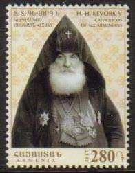 <font =1-835>835, Catholicos of All Armenians His Holiness Kevork V Soureniants, Scott # <br>Date of Issue: December 28<br> <a href=&quot;/images/ArmenianStamps-835.jpg&quot;>   <font color=green><b>View the image</b></a></font>