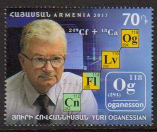 <font =1-838>838, Yuri Oganessian, Chemist, Scott #1126 <br>Date of Issue: December 28<br> <a href=&quot;/images/ArmenianStamps-838.jpg&quot;>   <font color=green><b>View the image</b></a></font>