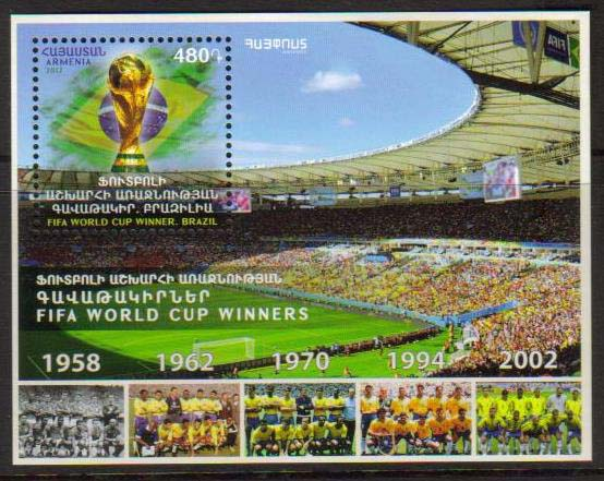 <font =1-840>840, FIFA World Soccer Cup Winners, a single Souvenir Sheet, Scott #1135 <br>Date of Issue: December 29<br> <a href=&quot;/images/ArmenianStamps-840.jpg&quot;>   <font color=green><b>View the image</b></a></font>