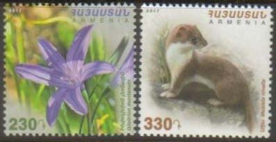 "<font =1-846>846-847, Fauna and Flora of Armenia, set of 2, Scott #1132-1133 <br>Date of Issue: December 29<br> <a href=""/images/ArmenianStamps-846-847.jpg"">   <font color=green><b>View the image</b></a></font>"