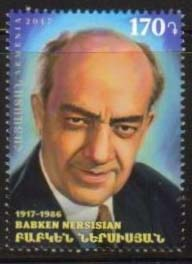 "<font =1-848>848, Babken Nersisian, Prominent Armenians, 100th Birth Anniversary, Scott #1139 <font color=red>First issue of 2018</font> <br>Date of Issue: April 4<br> <a href=""/images/ArmenianStamps-848.jpg"">   <font color=green><b>View the image</b></a></font>"