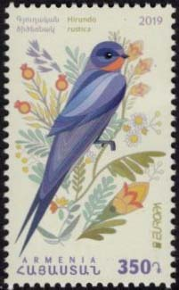 "<font =1-904>904, Europa 2019, Barn swallow, Scott #1188  <br>Date of Issue: May 21<br> <a href=""/images/ArmenianStamps-904.jpg\"">   <font color=green><b>View the image</b></a></font>"