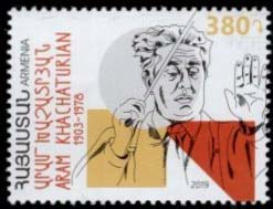 "<font =1-911>911, Aram Khachaturian, Scott #----  <br>Date of Issue: September 27<br> <a href=""/images/ArmenianStamps-911.jpg"">   <font color=green><b>View the image</b></a></font>"