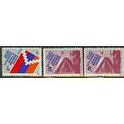 "<Font 1-006a><p>Nagorno Karabakh #06-08, First Overprint. <font color=red> </font> <br> Catalog #1 overprinted with the Armenian letter ""A"", catalog #3 with the letters ""B"" and ""G"". <br><font color=green>Note: The overprint stamps are very scarce, they were overprinted in Karabakh, as needed, and usually in quantities of under 500 pieces. </font><a href=""/images/KA-06-08.jpg"">   <font color=green>"