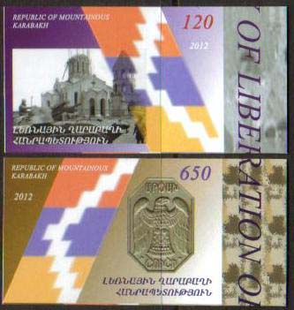 "<Font 1-071c><br>Nagorno Karabakh #71-72, Shushi Liberation, 20th Anniversary, <font color=red>Imperf Set </font><br>Set of 2 imperf stamps<br><a href=""/images/KA-071-072-Imperf.jpg"">   <font color=green><b>View the image</b></a></font><br>"