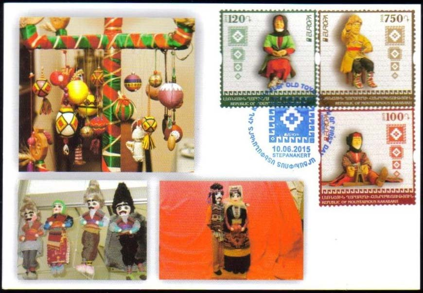 "<Font 3-108M>Nagorno Karabakh #108-110, 2015 issue, Europa, old toys, Maxi Card<br><a href=""/images/KA-108-110-Maxi.jpg"">   <font color=green><b>View the image</b></a></font>"