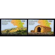 "<Font 1-116>Nagorno Karabakh #116-117, 2015 issue, Historic sites of Artsakh (Palace of Meliks & Tigranakert), a set of 2 stamps<br><a href=""/images/KA-116-117.jpg"">   <font color=green><b>View the image</b></a></font>"