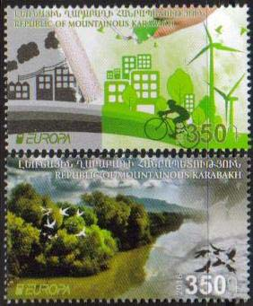 <Font 1-121><br>Nagorno Karabakh #121-122, 2016 issue, Europa, Think Green<br>A set of 2 stamps<br><a href=&quot;/images/KA-121-122.jpg&quot;>   <font color=green><b>View the image</b></a></font><br>