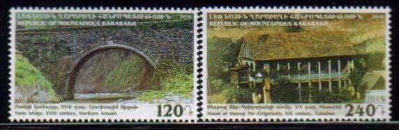 <Font 1-128><br>Nagorno Karabakh #128-129, 2016 issue, Sights of Karabakh<br>A set of 2 stamps<br><a href=&quot;/images/KA-128-129.jpg&quot;>   <font color=green><b>View the image</b></a></font><br>