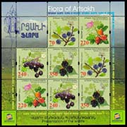 "<Font 3-135g><br>Artsakh #135-138, Medical Fruits and Flowers, Combination sheet (very scarce)  <br><a href=""/images/KA-135-138-Combo-Sheet.jpg"">   <font color=green><b>View the image</b></a></font><br>"