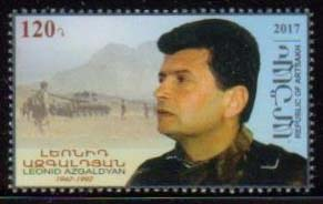 <Font 1-157><br>Artsakh #157, Leonid Azgaldyan, Artsakh hero, a single stamp <br><a href=&quot;/images/KA-157.jpg&quot;>   <font color=green><b>View the image</b></a></font><br>
