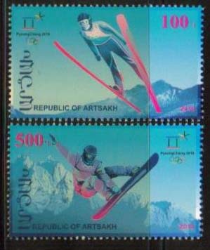 "<Font 1-158>Artsakh #158-159, Winter Olympics, set of 2 <br><a href=""/images/KA-158-159.jpg"">   <font color=green><b>View the image</b></a></font>"