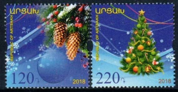 "<Font 1-186>Artsakh #186-187, New Year and Christmas, set of 2 stamps <br><a href=""/images/KA-186-187.jpg"">   <font color=green><b>View the image</b></a></font>"