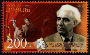 "<Font 1-189>Artsakh #189, Vagharsh Vagharshyan, 125th Birth Anniversary, a single stamp <br><a href=""/images/KA-189.jpg\"">   <font color=green><b>View the image</b></a></font>"