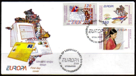 "<font 2-045>Nagorno Karabakh #45-47, Europa 2008, letter writing <br> FDC, 26-10-2008<br><a href=""/images/KA-45-47-FDC.jpg"">   <font color=green><b>View the image</b></a></font>"