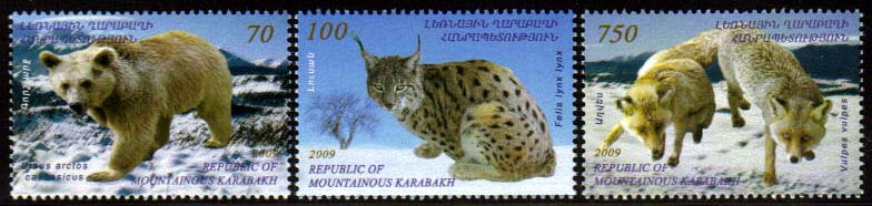 "<Font 1-051>Nagorno Karabakh #51-53, Endangered Animals of Krabakh <br>Set of 3  </font></b><a href=""/shop/catalog/images/KA-51-53.jpg"">   <font color=green><b><br>View the image</b></a></font>"