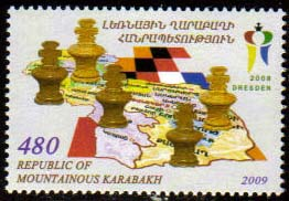 "<Font 1-054>Nagorno Karabakh #54, Celebrating Armenia's Chess Championship <br>A single stamp  <a href=""/shop/catalog/images/KA-54.jpg"">   <font color=green><br><b>View the image</b></a></font>"