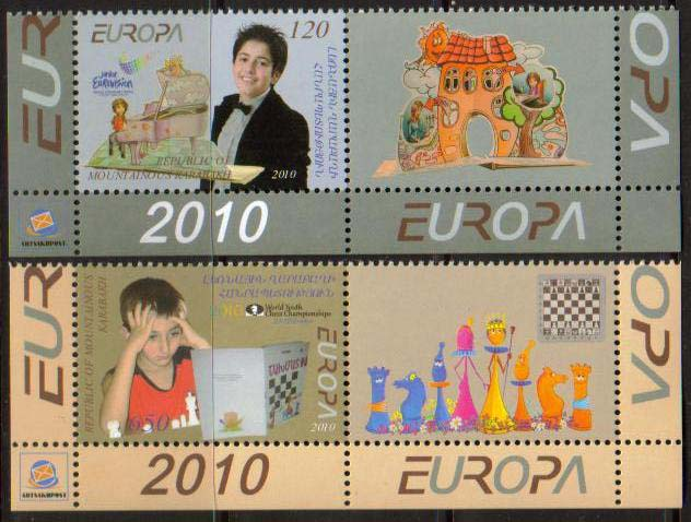 <Font 1-067b>Nagorno Karabakh #67-8, Europa, Eurovision Song Contest... <font color=red>Set with labels </font><br>Set of 2 stamps with labels, see image<br><a href=&quot;/images/KA-67-68-With-Label.jpg&quot;>   <font color=green><b>View the image</b></a></font>