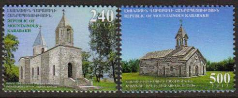 <Font 1-086><br>Nagorno Karabakh #86-87, 2013 issue, Artsakh Churches<br>A set of 2 stamps<br><a href=&quot;/images/KA-86-87.jpg&quot;>   <font color=green><b>View the image</b></a></font><br>
