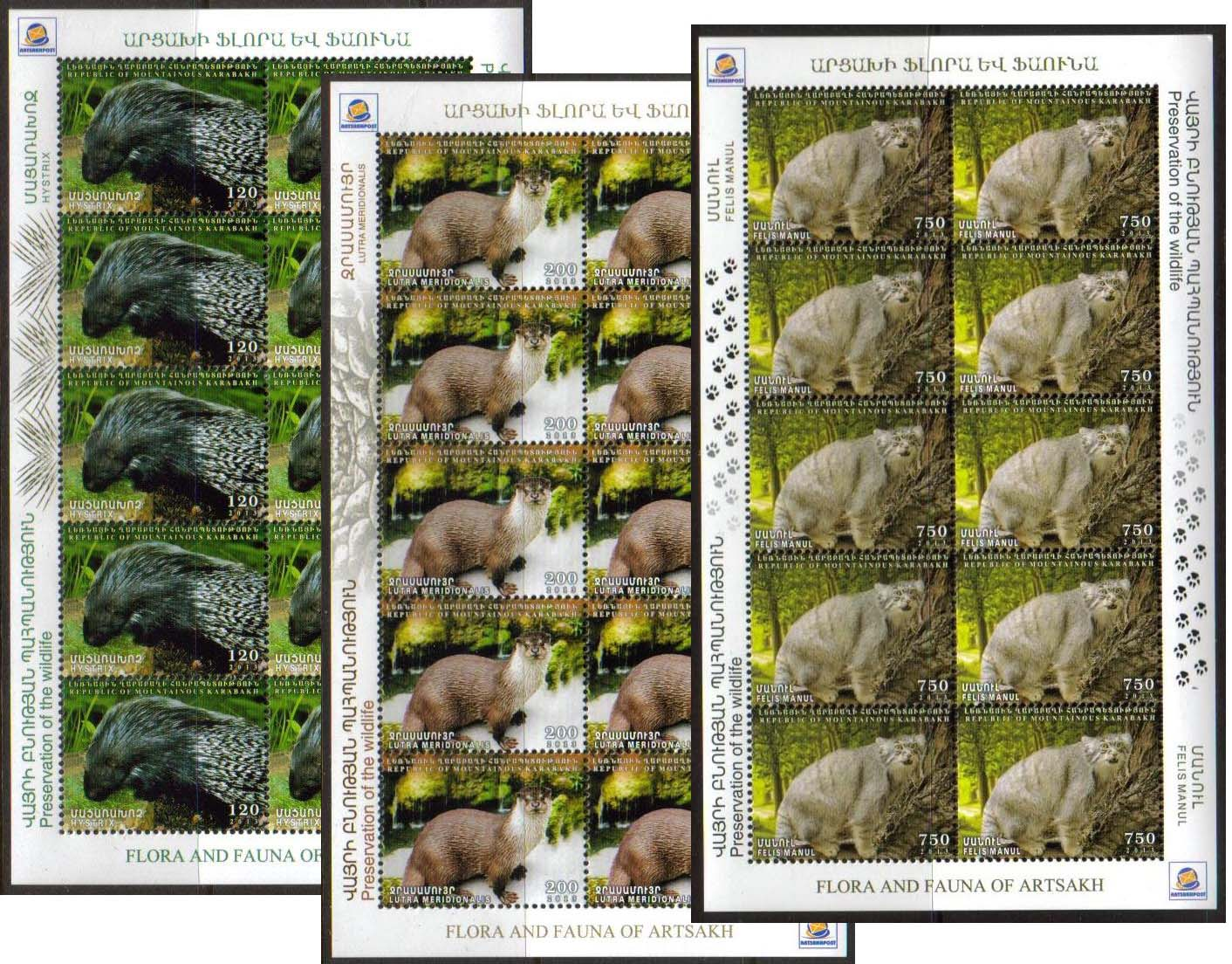 "<Font 4-088><br>Nagorno Karabakh #88-90, Karabakh Flora and Fauna<br>Complete Sheets of 10<br><a href=""/images/KA-88-90-SheetS.jpg"">   <font color=green><b>View the image</b></a></font><br>"