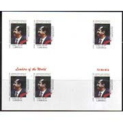 "<font=484c><b>Liberia, Leaders of the World, Armenia,  Proof Sheet.</b><br><p>President Robert Kocharyan of Armenia, Proof Sheetlet of 6 stamps.  Interesting item for collectors of Armenia.<br><a href=""/shop/catalog/images/Liberia-Kocharyan-Proof-Sheet.jpg"">   <font color=green><b>View the image</b></a></font>"