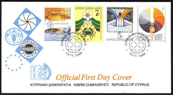 "Cyprus Scott #733-6, FDC, Earthquake in Armenia (WHA #68). <P><a href=""/images/World-Honors-068.jpg""> <font color=green><b>View the image</a></font>"