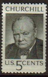 "USA Scott #1264, Winston Churchill, photographed by Yousuf Karsh.  Issue date: May 13, 1965.  A single Stamp. (WHA #145) <P><a href=""/images/World-Honors-145b-Single.jpg""> <font color=green><b>View the image</a></font>"