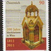 "Austria Scott #New Issue, 200th anniversary of Mechitarists in Vienna, date of issue: May 1, 2011.  A Single Stamp. <P><a href=""/images/World-Honors-146.jpg""> <font color=green><b>View the image</a></font>"